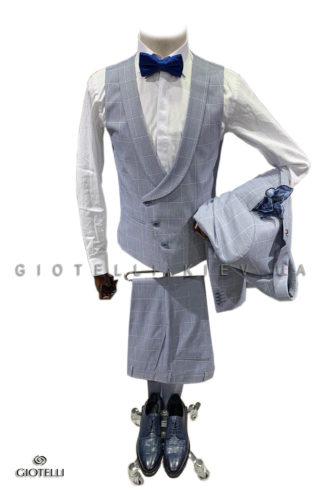Клетчатый костюм жениха