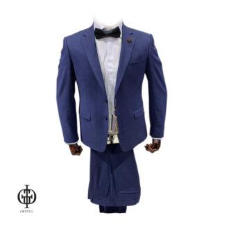 Мужской костюм синий с бабочкой
