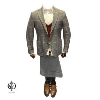 Мужской костюм с жилетом