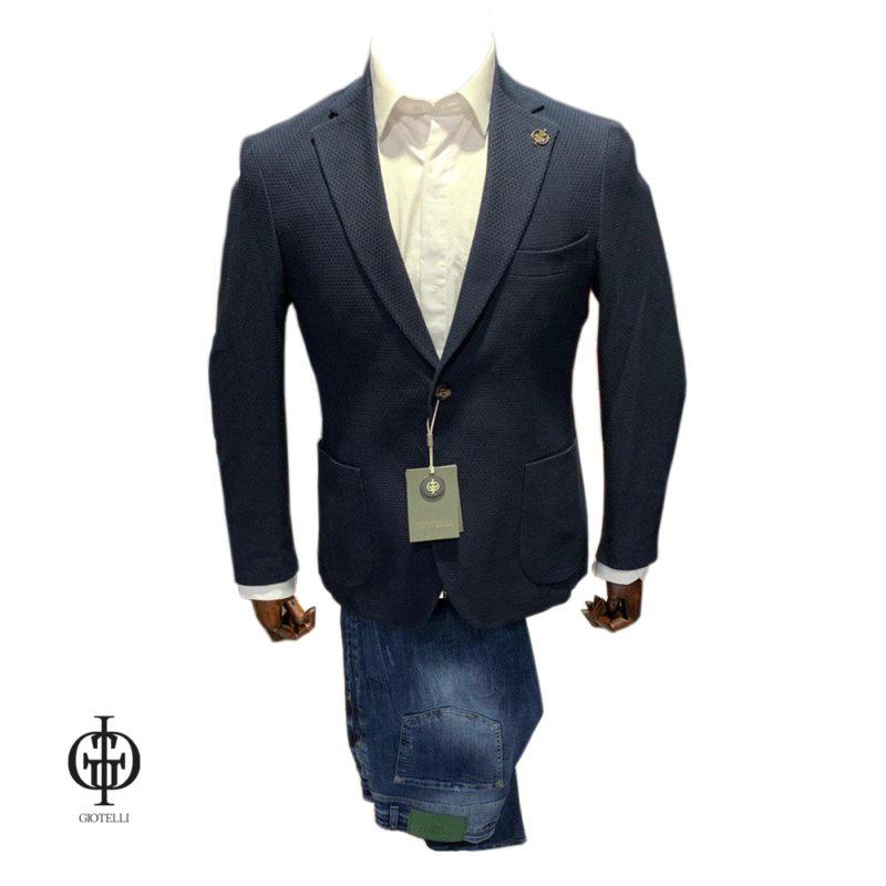 Синий пиджак GIOTELLI