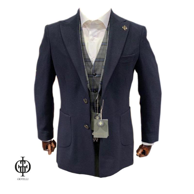 Синее мужское пальто